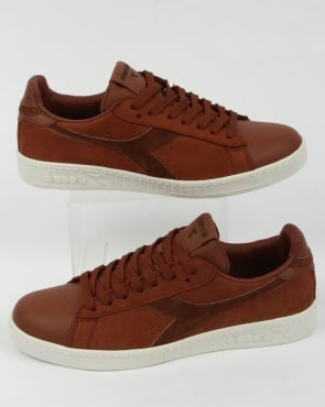 Diadora Game Low Premium Trainers Brown Sequoia