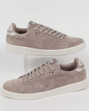 Diadora Game Low Suede Trainers Grey Silver