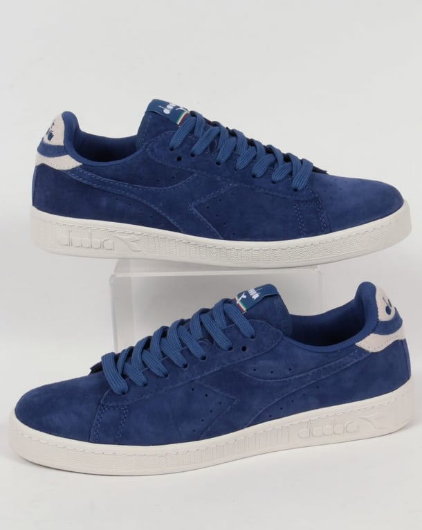 Diadora Game Low Suede Trainers Saltire Navy