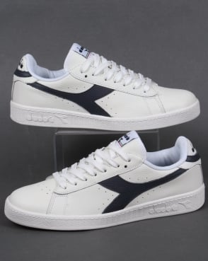 Diadora Game Low Waxed Trainers White/Navy