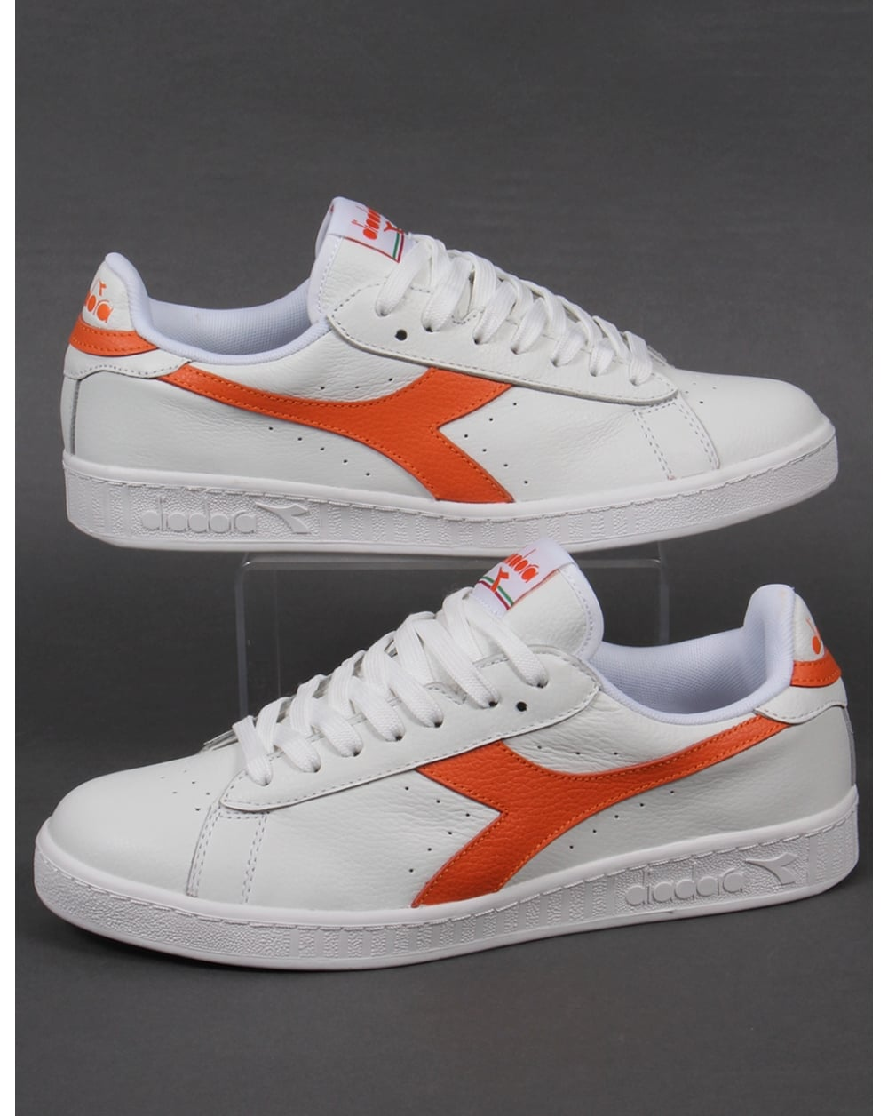 Diadora Game L Low Waxed Sneakers Casual - White - Mens   eBay