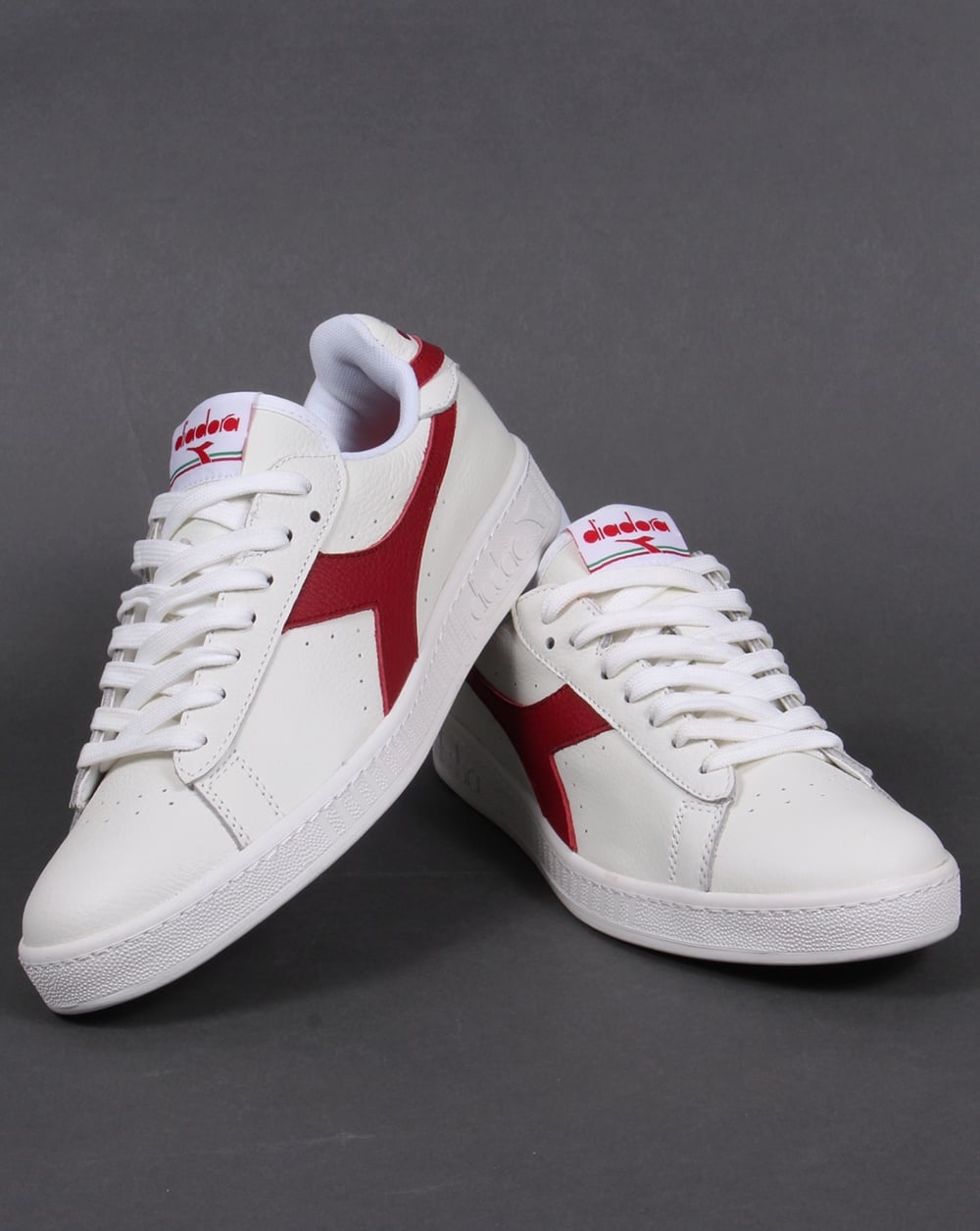 Diadora Game Low Trainers White, Red