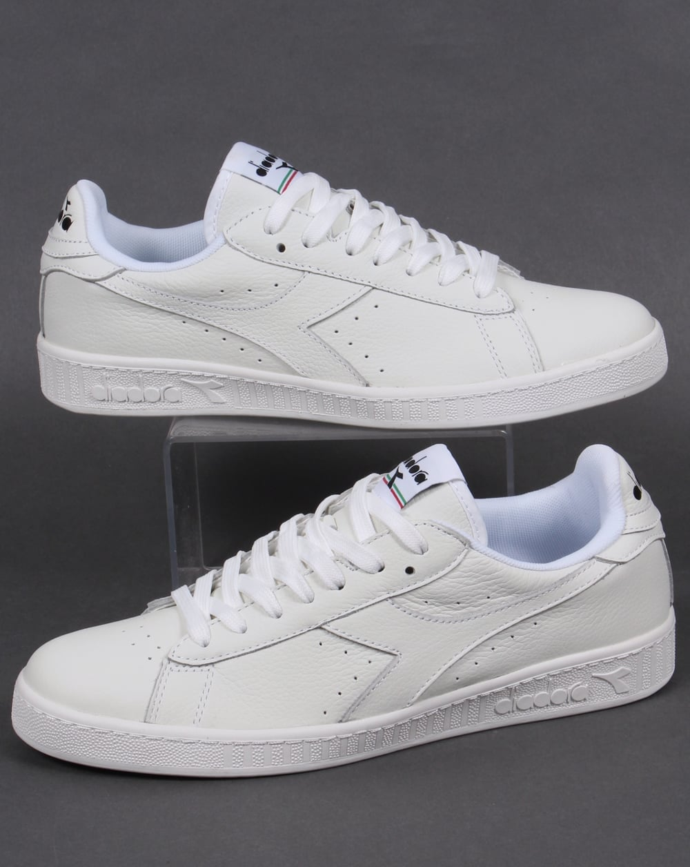 Diadora Game Low Waxed Trainers WhiteWhiteBlack