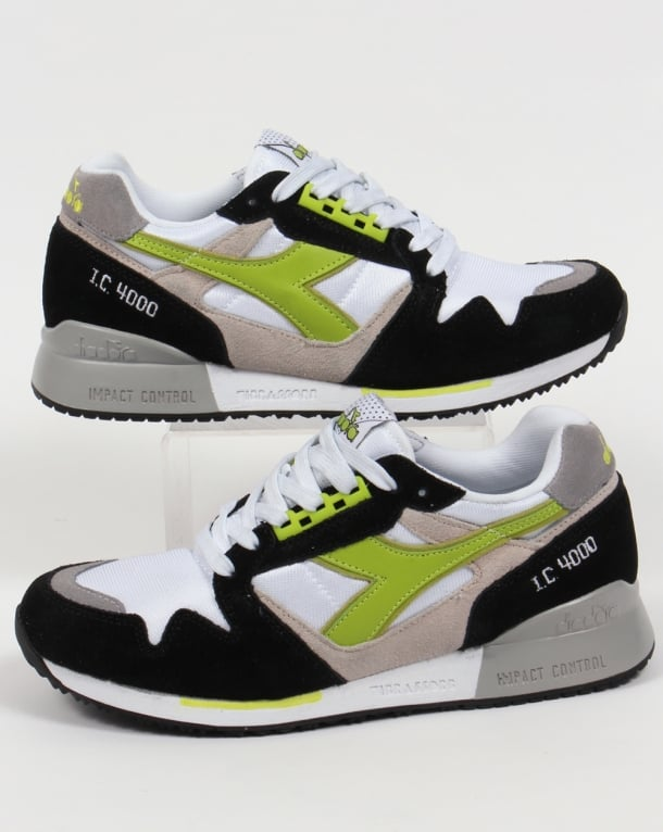 Diadora IC 4000 NYL Trainers White/Green