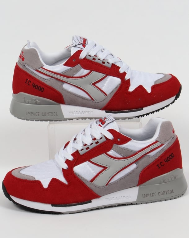Diadora IC 4000 NYL Trainers White/Red