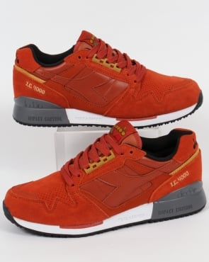 Diadora IC 4000 Premium Trainers Burnt Orange