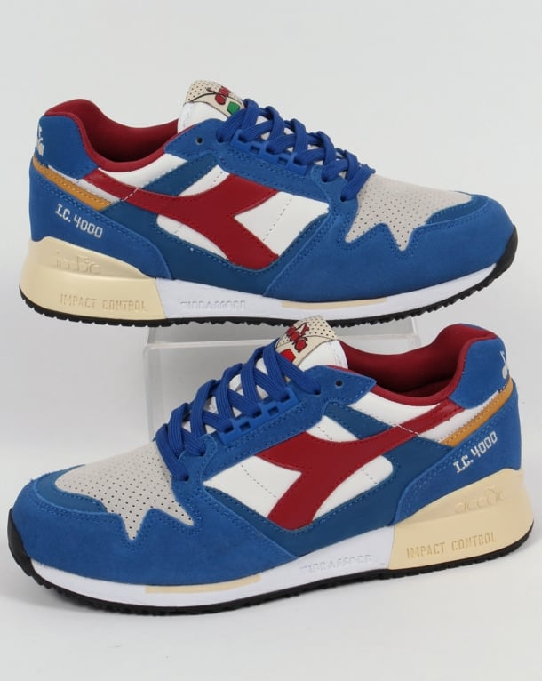 Diadora IC 4000 Premium Trainers Nautical Blue/Red