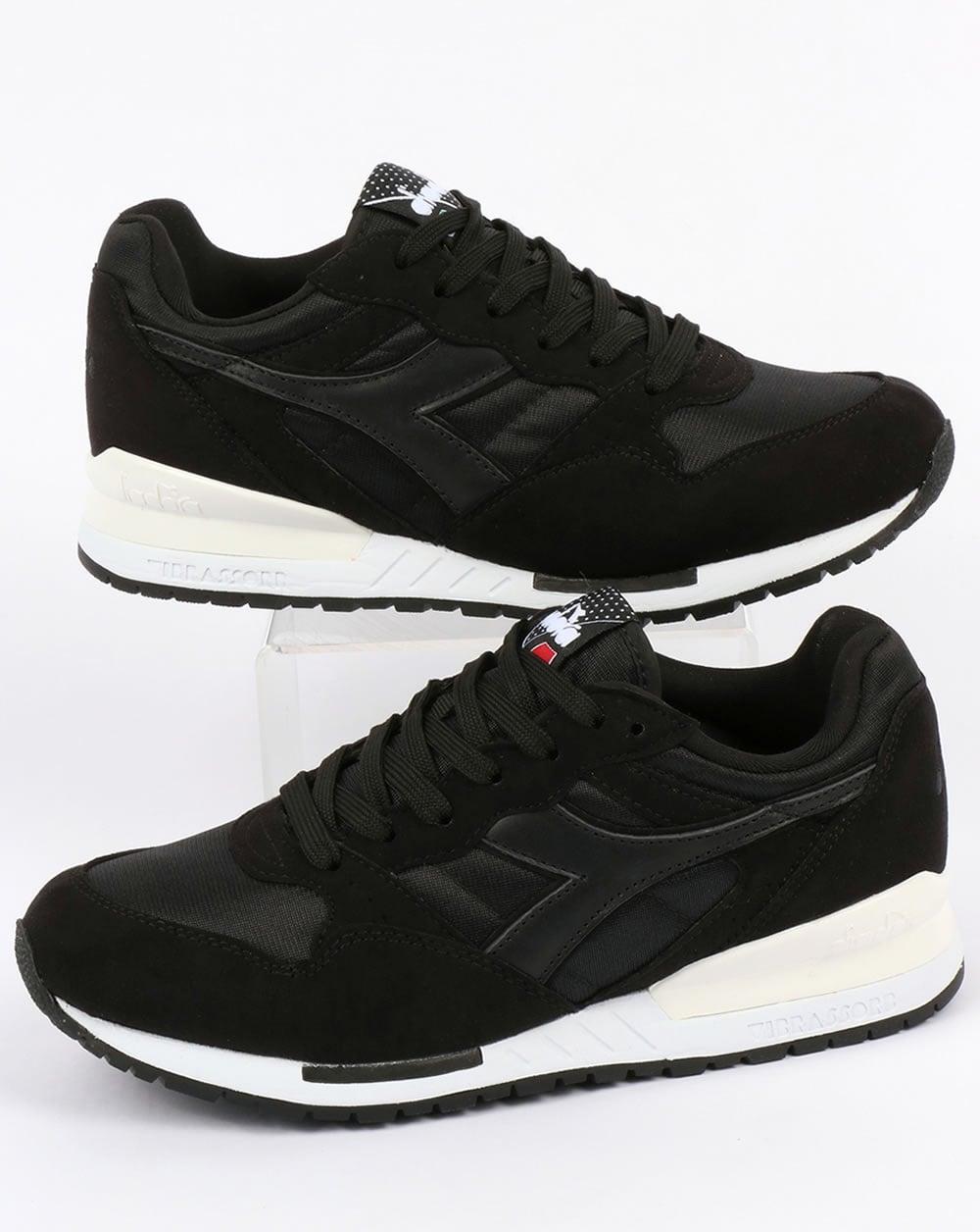 Scrutinio Prospettiva Persistente  Diadora Intrepid NYL Trainers Black,og,runners,shoes,mens