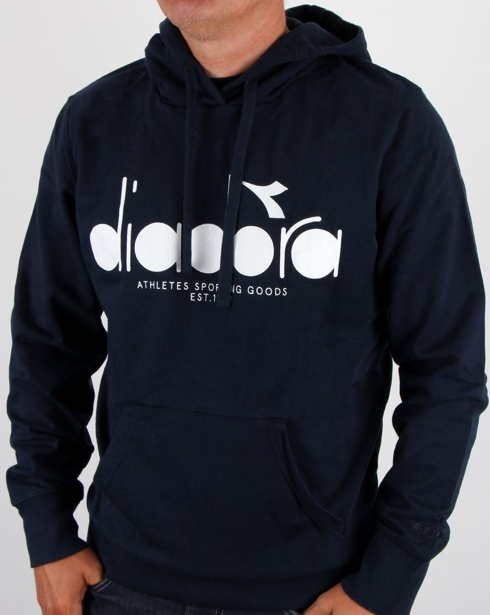 5e888890c6 Diadora Logo Hoodie Blue Denim