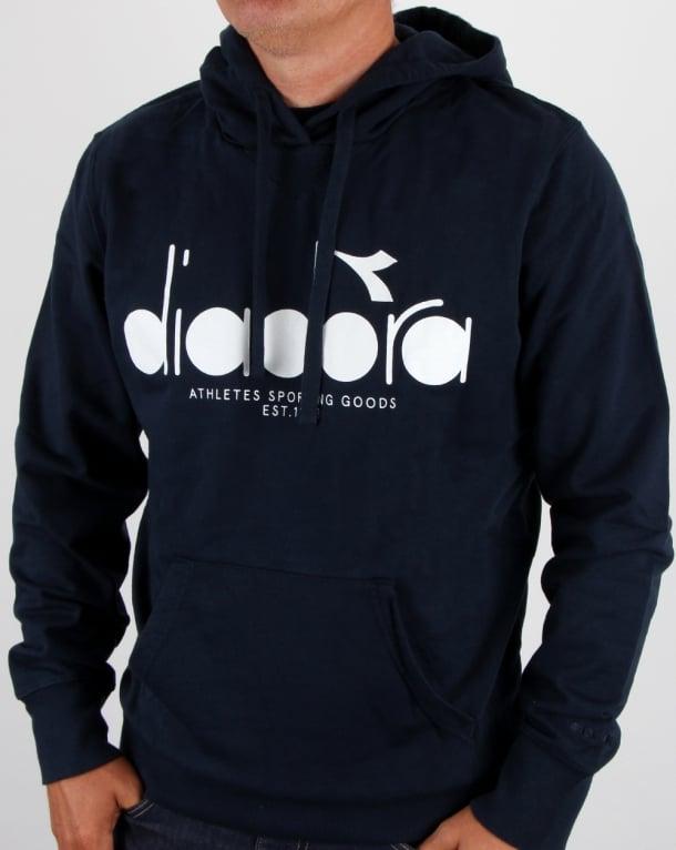 Diadora Logo Hoodie Blue Denim