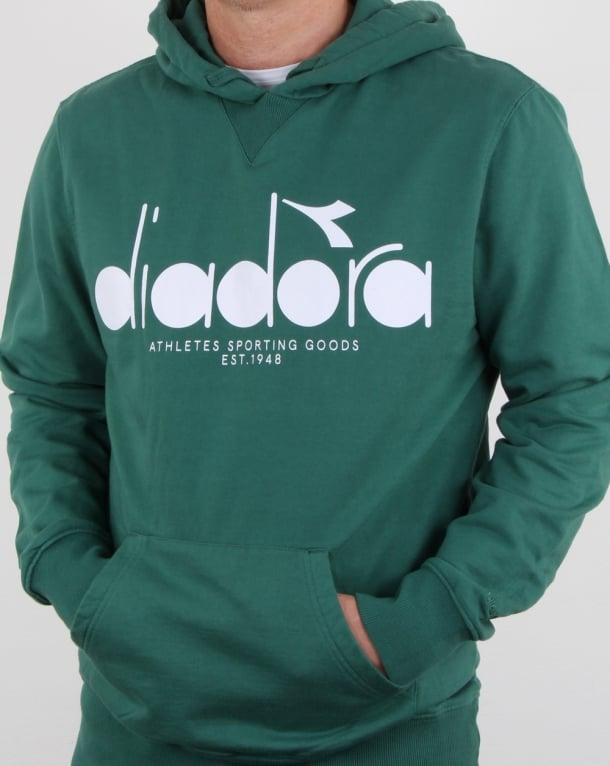 Diadora Logo Hoodie Posy Green