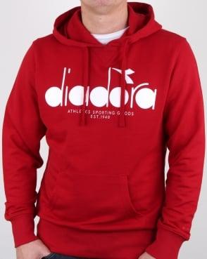 Diadora Logo Hoodie Red