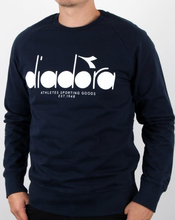 Diadora Logo Sweatshirt Blue Denim