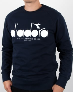 Diadora Logo Sweatshirt Blue Denim