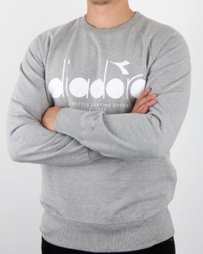 Diadora Logo Sweatshirt Grey Melange