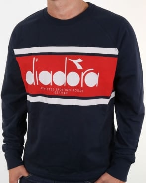 Diadora Logo Sweatshirt Navy/Red/White