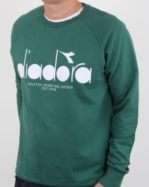 Diadora Logo Sweatshirt Posy Green