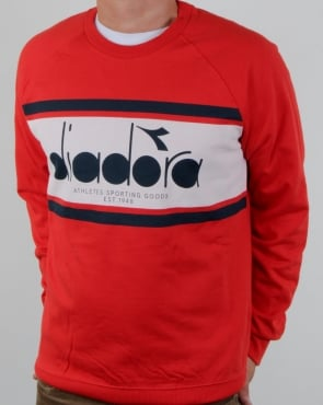 Diadora Logo Sweatshirt Red/white/blue