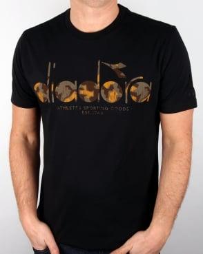 Diadora Logo T-shirt Black