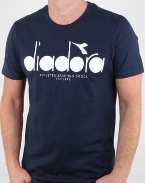 Diadora Logo T-shirt Blue Denim