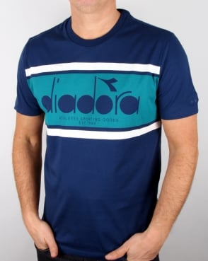 Diadora Logo T-shirt Estate Blue/porcelain Green