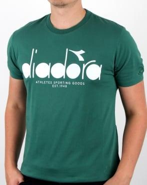 Diadora Logo T-shirt Posy Green