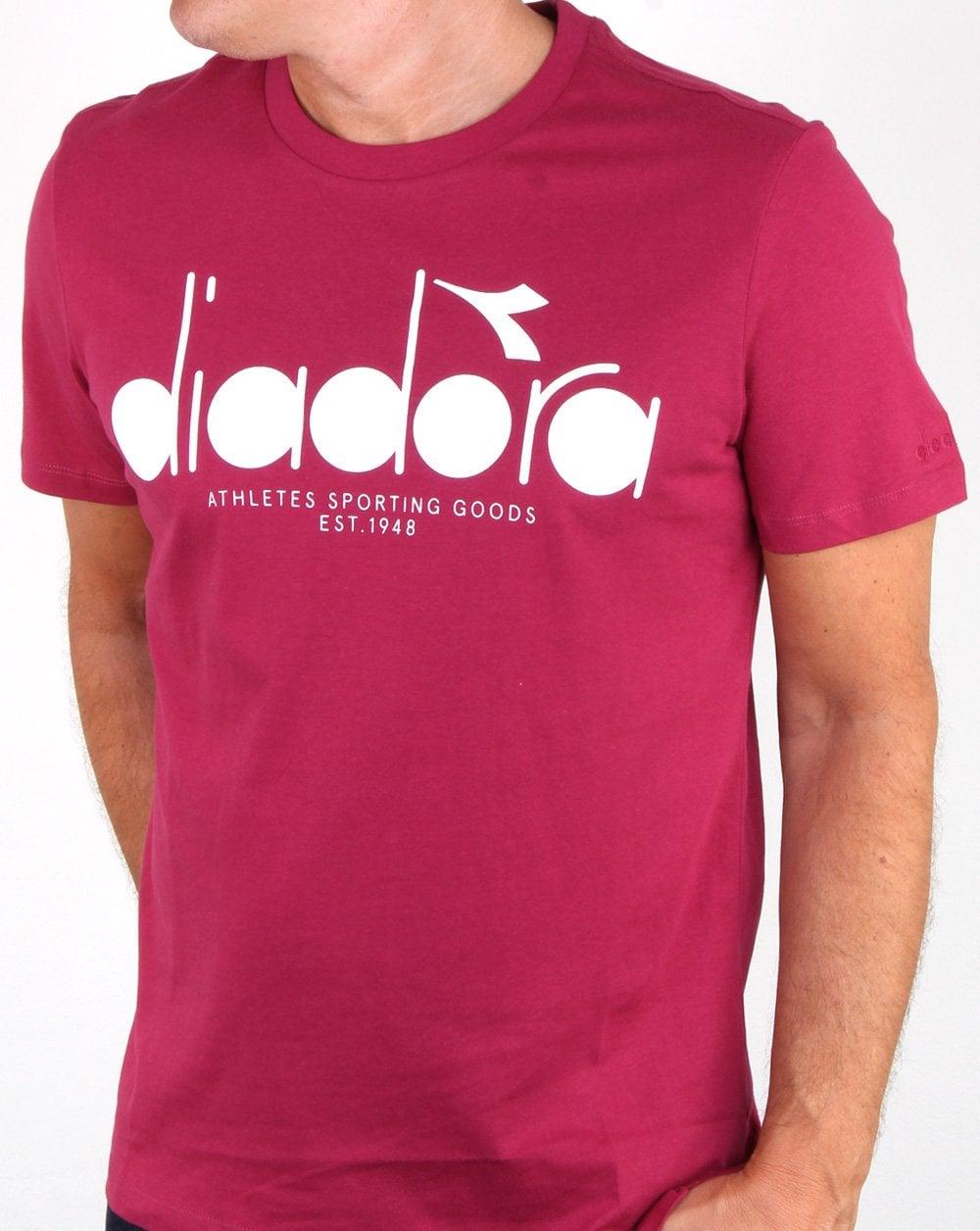 130379429c72 Diadora Diadora Logo T-shirt Raspberry White