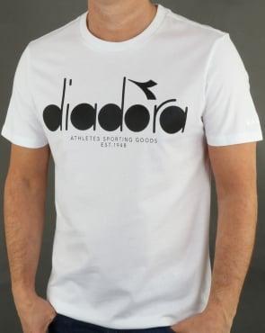 Diadora Logo T-shirt White Big Logo