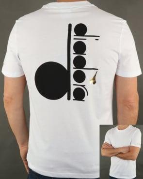 Diadora Logo T-shirt White/Black