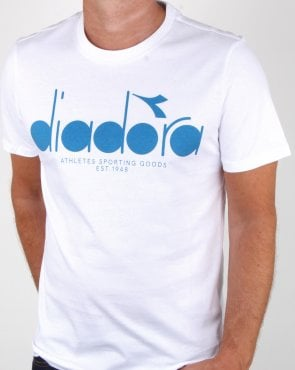 Diadora Logo T-shirt White/Blue