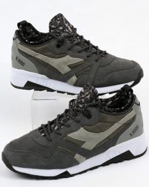 Diadora N9000 Camo Socks Trainers Grey