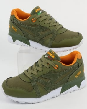 Diadora N9000 CVSD Trainers Green Rosemary