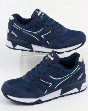 Diadora N9000 III Trainers Estate Blue/Antique White
