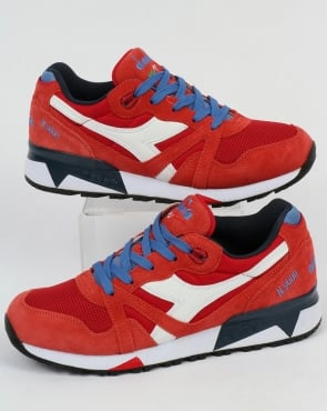 Diadora N9000 III Trainers Pompeian Red