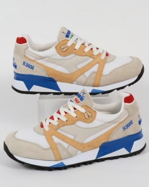 Diadora N9000 Italia Trainers Moonbeam/Apricot