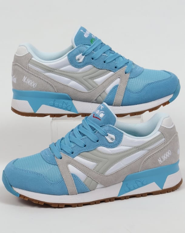Diadora N9000 NYL Trainers Blue Grotto/Lunar Rock