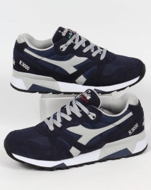 Diadora N9000 NYL Trainers Navy/High Rise