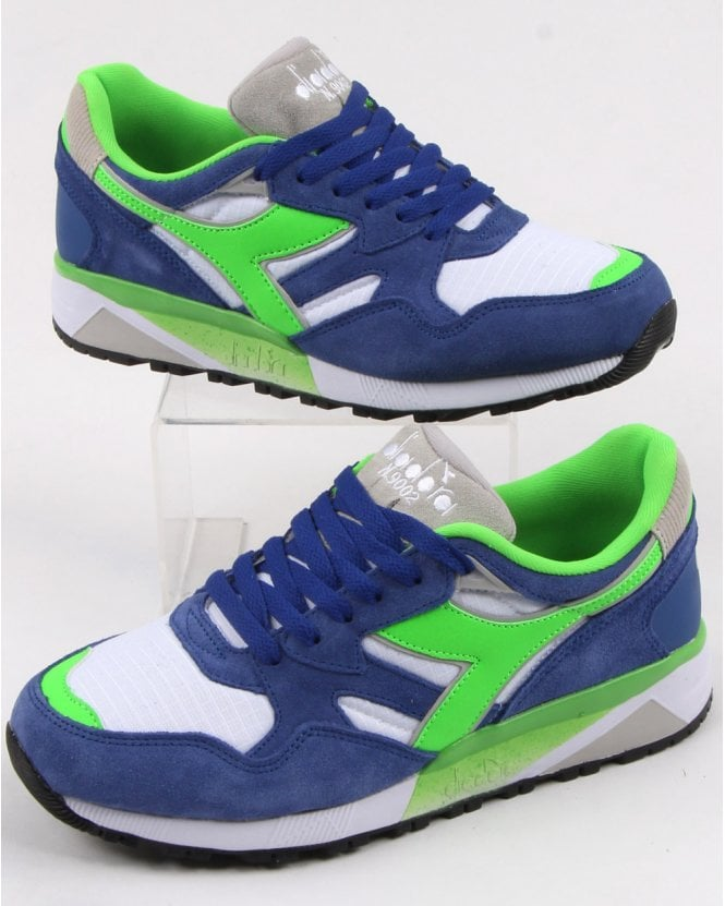 Diadora N9002 Trainers Imperial Blue/Green/white