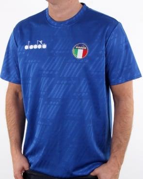 Diadora Rb94  Italia T Shirt Olympia Blue
