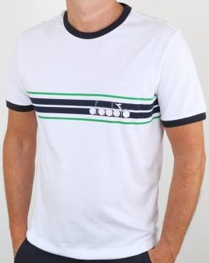 Diadora Ringer T Shirt White