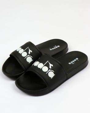 Diadora Serifos 90 Slides Black