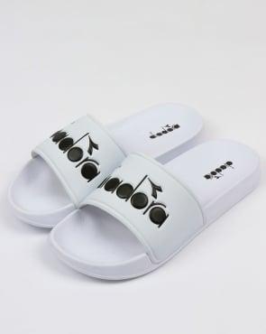 Diadora Serifos 90 Slides White
