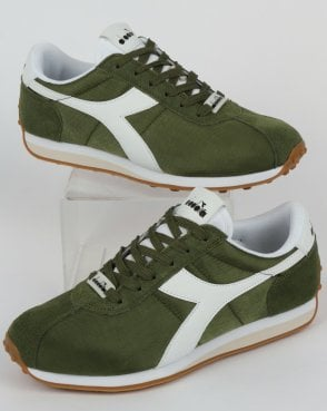 5448704bc88 Diadora Sirio NYL Trainer Green Olive