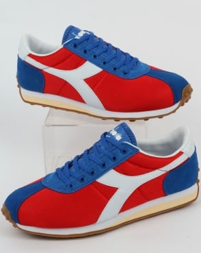 Diadora Sirio Trainers Fiery Red/victoria Blue