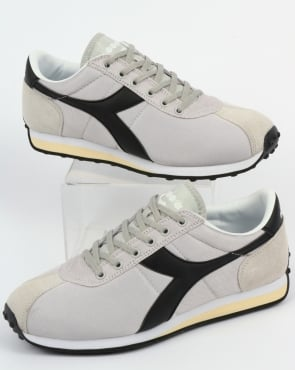 Diadora Sirio Trainers Light Grey/Black