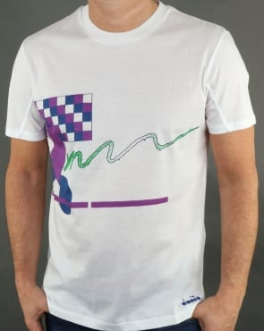 Diadora Smash T Shirt White