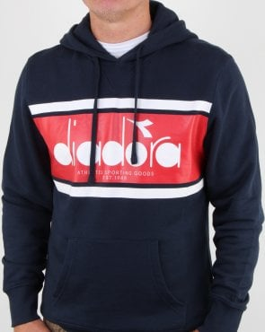 Diadora Spectra Hoodie Blue Denim/white/Red