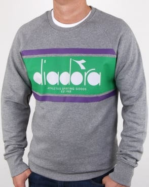 Diadora Spectra Sweatshirt Light Grey/light Emerald