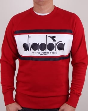 Diadora Spectra Sweatshirt Red/white/blue Denim