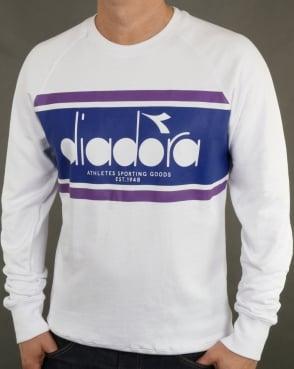 Diadora Spectra Sweatshirt White/Navy